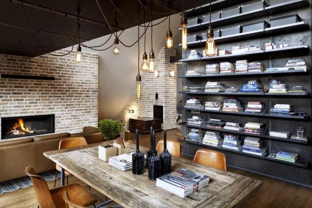 interior loft industrial vintage en un tico de estructura sorprendente virlova style. Black Bedroom Furniture Sets. Home Design Ideas