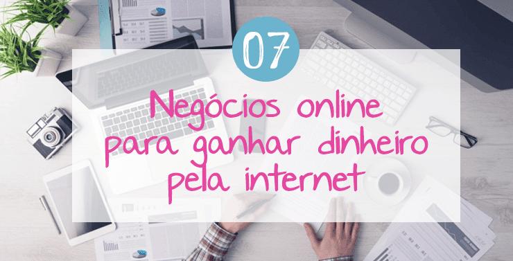 Negócios online para ganhar dinheiro