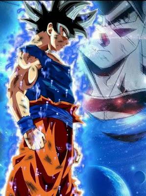 Goku with his Ultra Instinct form