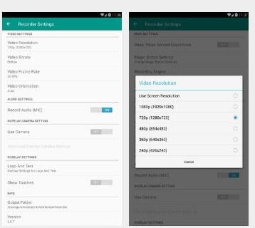 تطبيق تصوير شاشة الموبايل ADV Screen Recorder