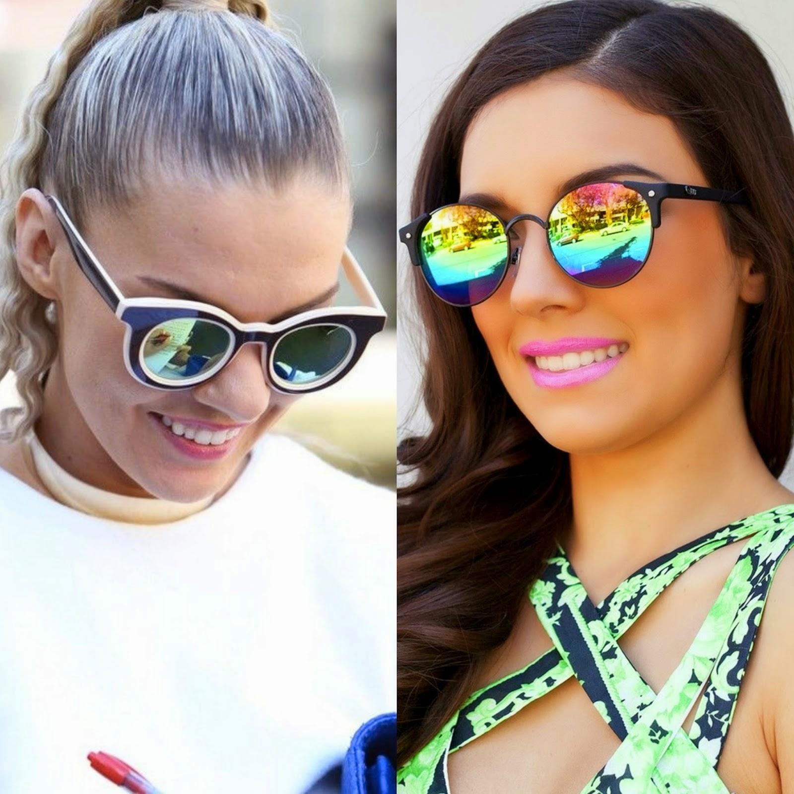 3b16977ead64b Amei o formato de coração estou super apaixonada os Óculos Ray-Ban espelhado  colorido estão super em alta principalmente para verão .. vamos andar com  ...