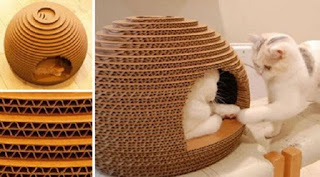 Stylish A Cardboard Cat House