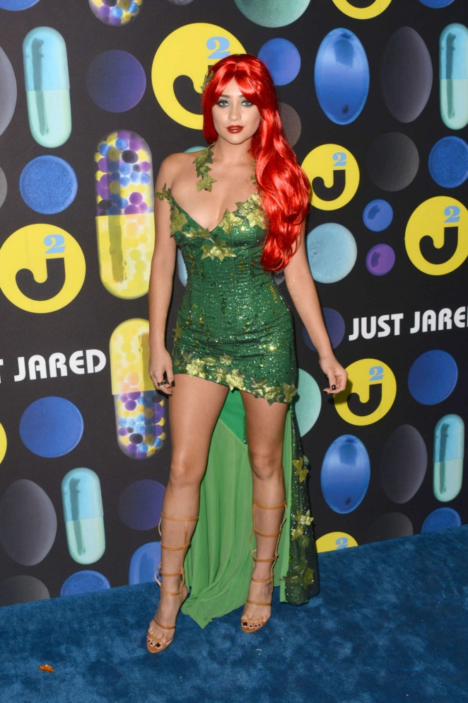 Shay Mitchell seduces as Poison Ivy at the Just Jared Halloween Party