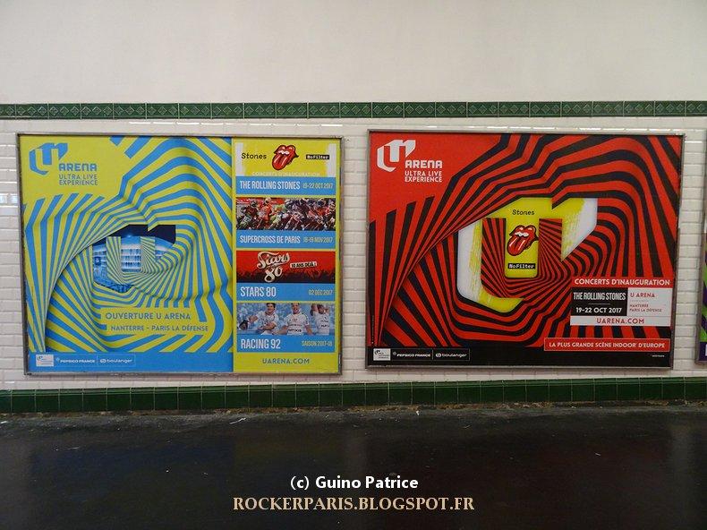 Rockerparis les affiches publicitaires pour les concerts for Interieur u arena