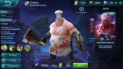 Franco, Jenis Hero Dalam Game Mobile Legends