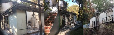 The arson attack at 'Finca Entre Ríos, Paso del Mango, Santa Marta, Colombia.
