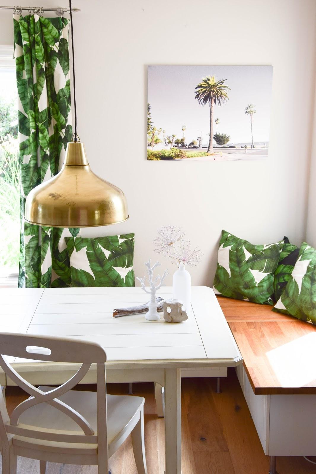 Wanddeko für das Esszimmer: Sommer, Palmen und Tropical Feeling - Santa Barbara