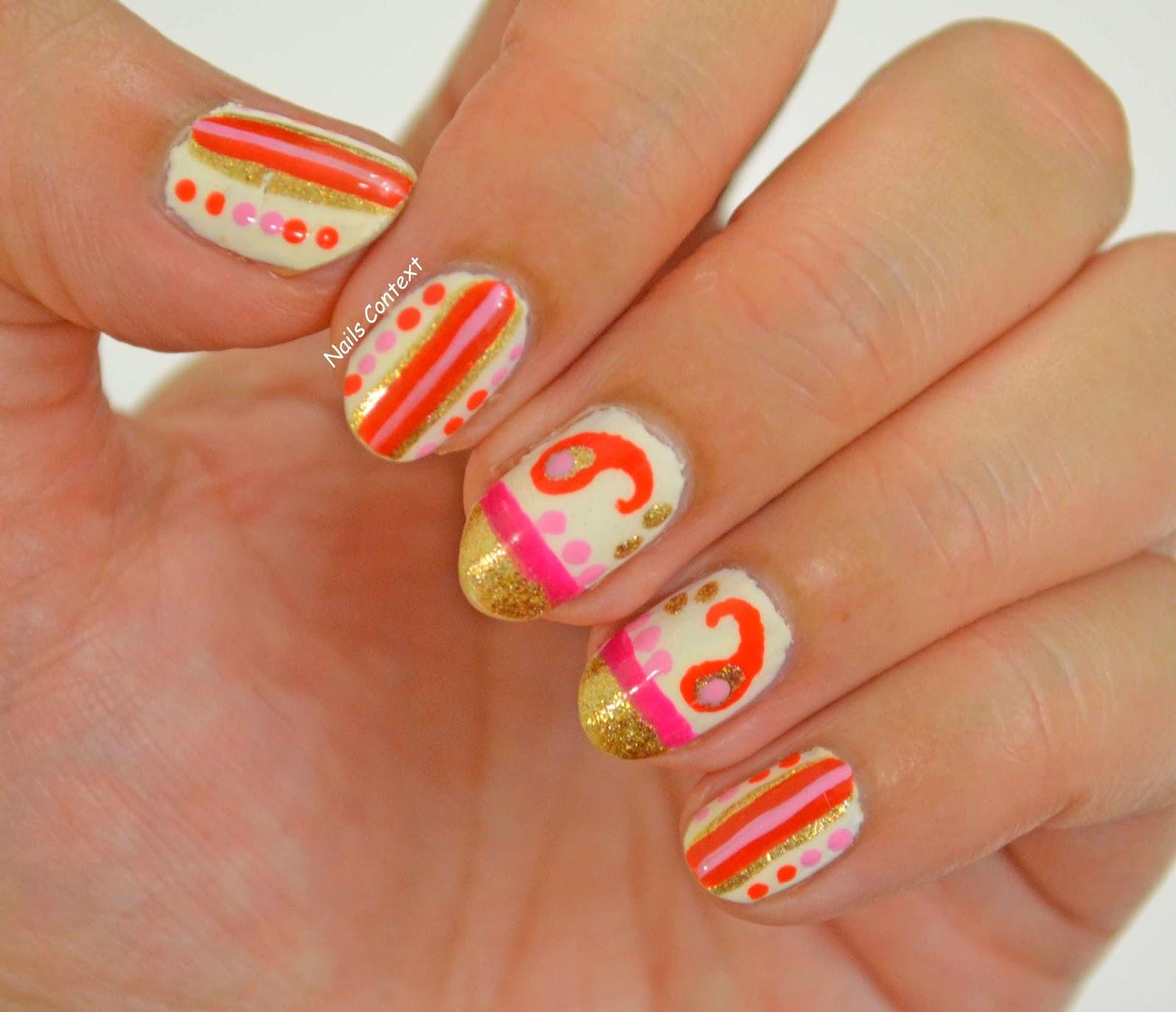 Paisley Nail Art: Nails Context: Paisley Nails