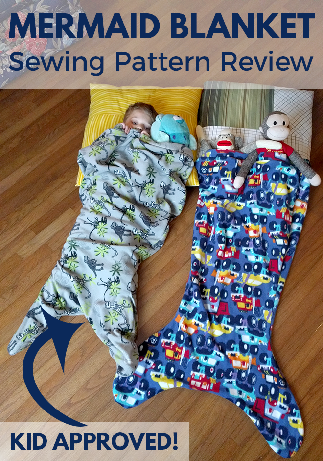 This mermaid blanket sewing pattern review covers tips for sewing a mermaid blanket for kids. It's a simple and speedy sewing project that would be great for beginner sewists.