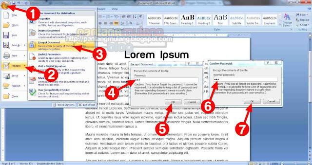 Cara Mengunci File Dokumen Microsft Word Agar Tidak Bisa di Buka