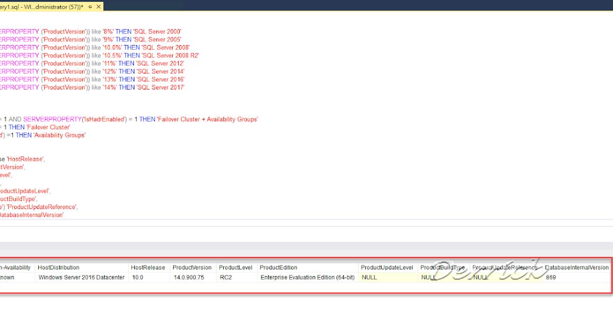 德瑞克:SQL Server 學習筆記: [SQL Server] Query version, edition ...