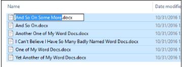 Rename Files in Windows