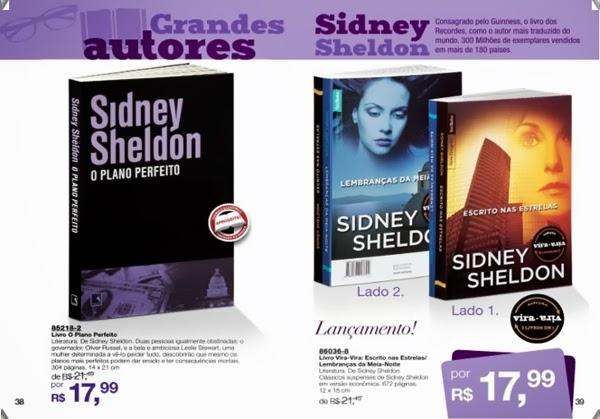 Livros O Plano Perfeito, Escrito nas Estrelas e Lembranças da Meia-Noite Sidney Sheldon mais baratos, com desconto, vira-vira