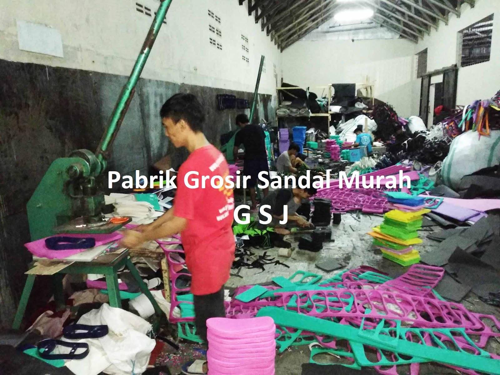 pusat produksi pembuatan sandal