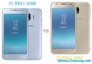 Harga dan Spesifikasi Samsung J2 Pro (2018) vs J3 Pro (2017)