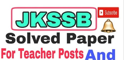 Download today's JKSSB Teacher Papers-held on 21 April 2018