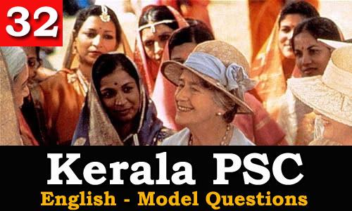 Kerala PSC - Model Questions English - 32