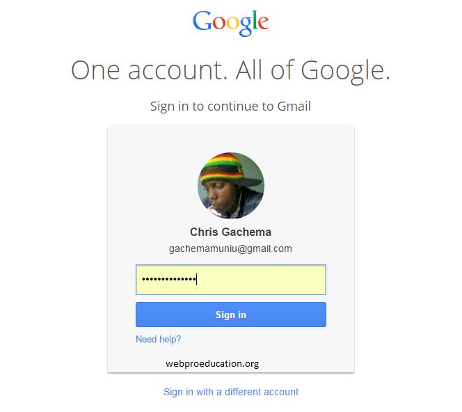 forgotten gmail password