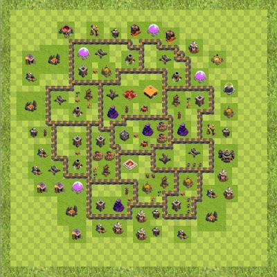 War Base Town Hall Level 9 By kingslayer028 (War TH 9 Layout)