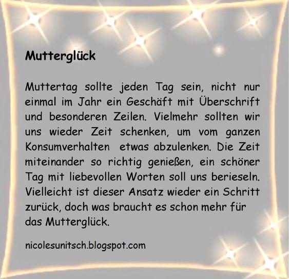 Gedichte von Nicole Sunitsch   Autorin : Mutterglück aus dem Buch