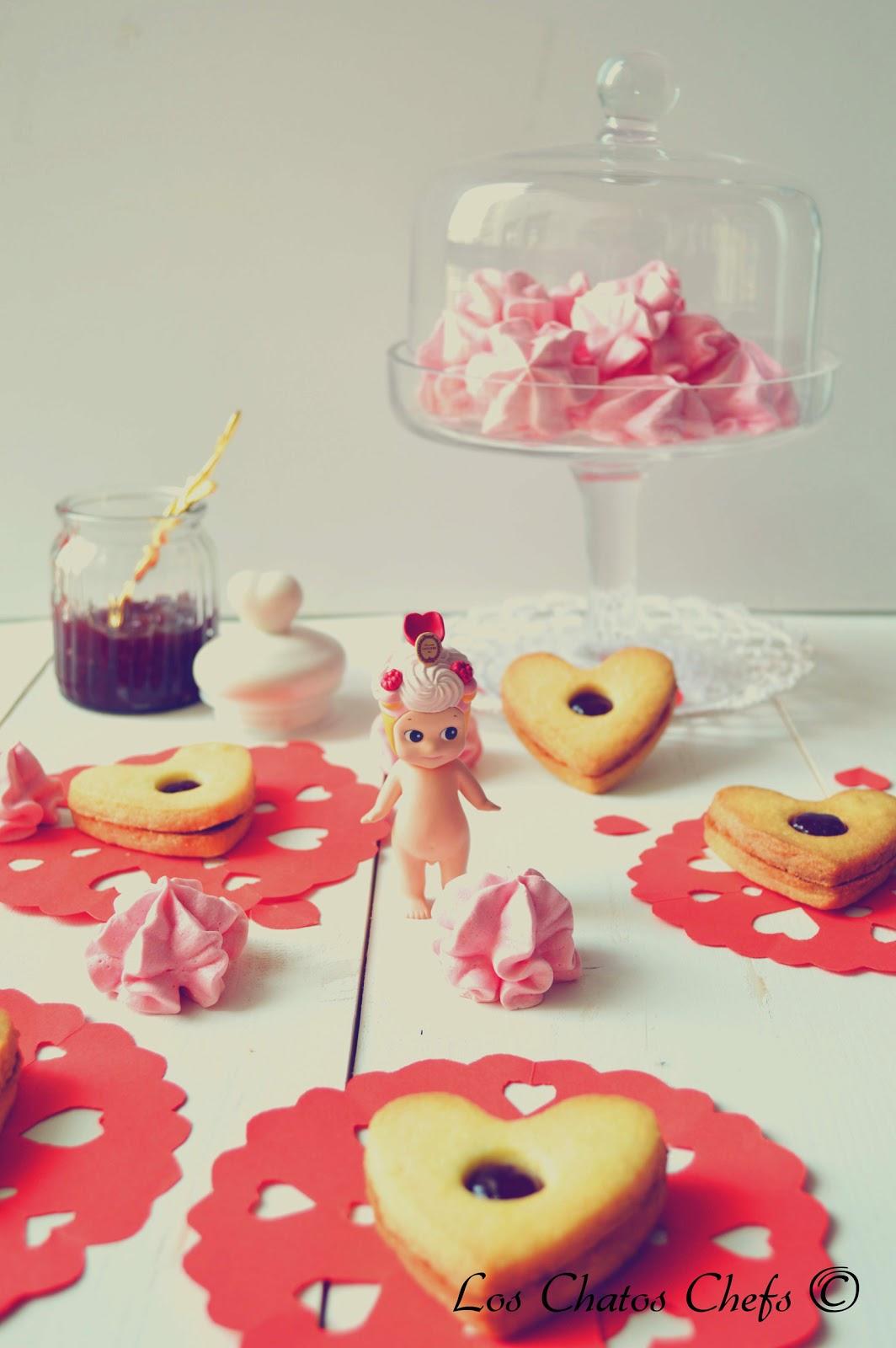 Galletas linzer San Valentín