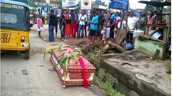 Political thugs Campaigning with machetes and coffins