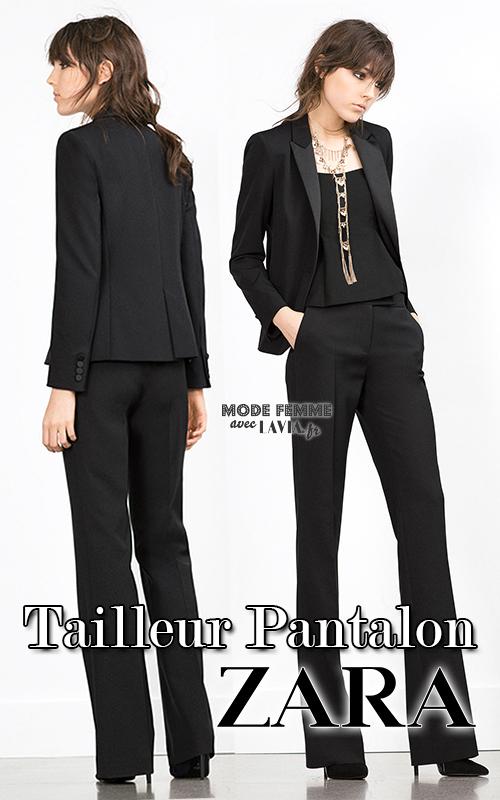 Tailleur smoking femme noir Zara 65cb020889b