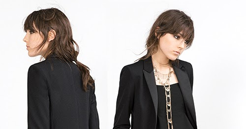 032704501ca9 Tailleur smoking femme noir Zara