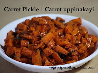 Carrot uppinakayi recipe in Kannada
