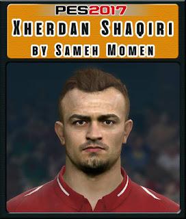 PES 2017 Faces Xherdan Shaqiri by Sameh Momen