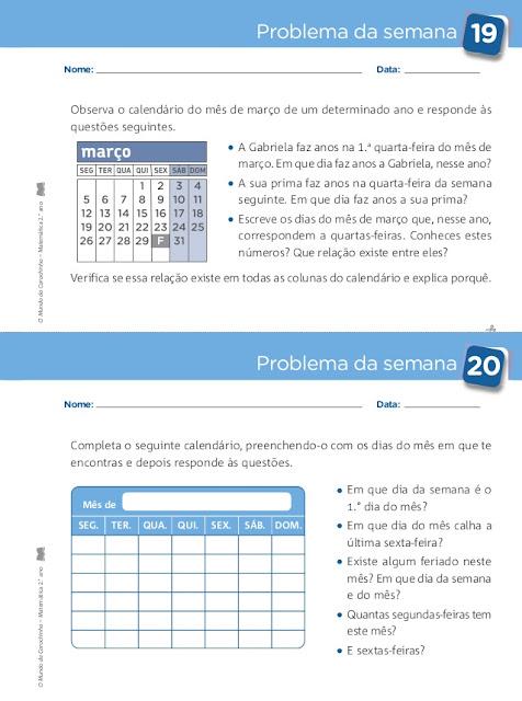 caderno de problemas 2 ano matematica