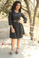 Telugu Actress Pavani Latest Pos in Black Short Dress at Smile Pictures Production No 1 Movie Opening  0024.JPG