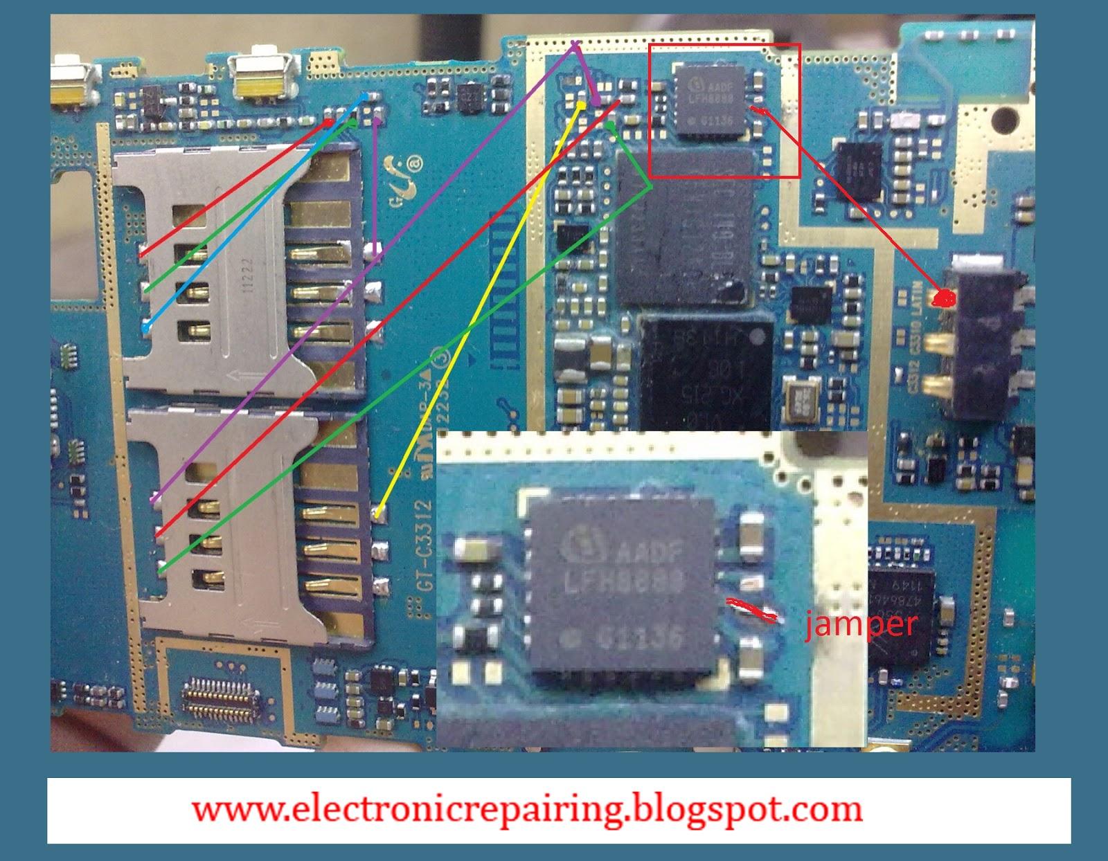 Samsung c3312 sim solution  Electronic Repairing