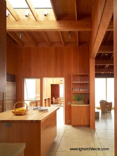 Cocina de la casa de madera