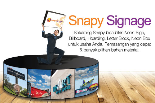 Snapy Menyediakan Jasa Neon Box Untuk Usaha Anda