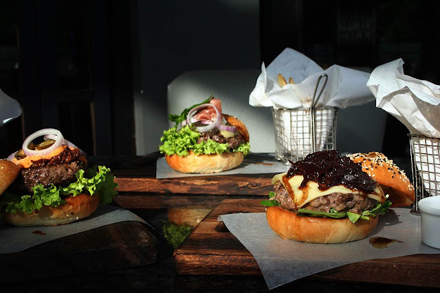 Premium Wagyu Burger Creations at Village Tavern