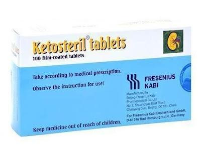 Ketosteril - Manfaat, Efek Samping, Dosis dan Harga