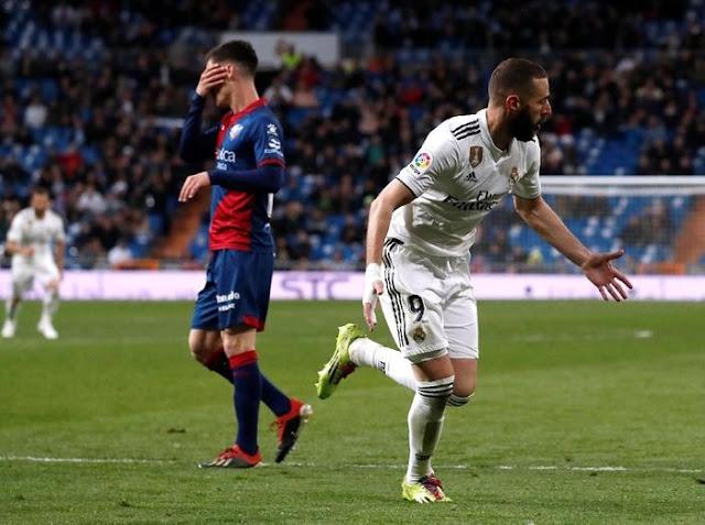 Hasil Liga Spanyol: Real Madrid Menang Tipis atas Huesca 3-2