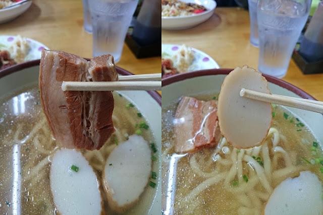 三枚肉とカマボコの写真