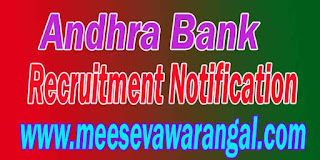 Andhra Bank Recruitment Notification 2016 www.andhrabank.in