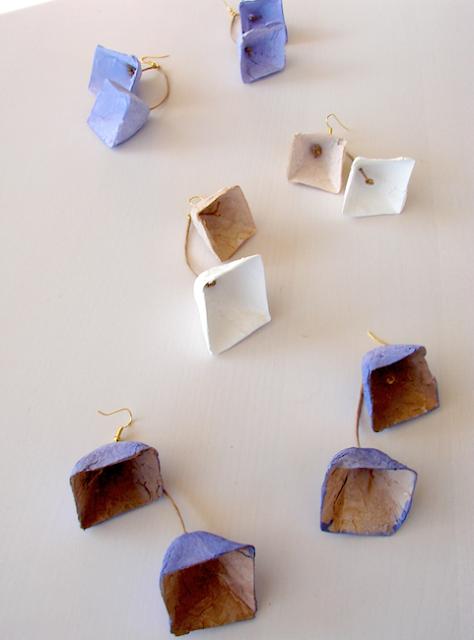 Maxi orecchini piramidali. Gioielli modulari di carta ,  Alessandra Fabre Repetto