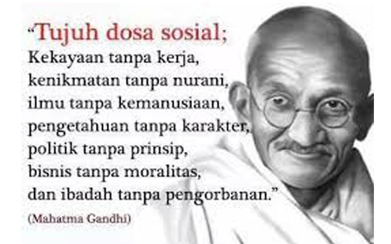 7 Kata Mutiara Mahatma Gandhi yang Sangat Menginspirasi