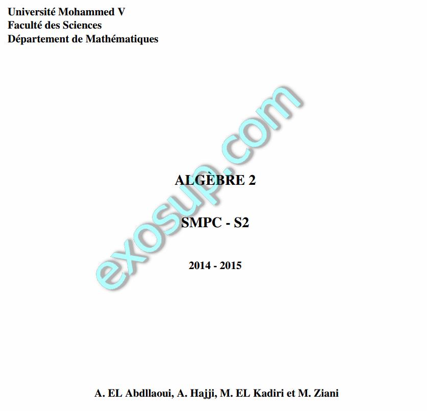 cours alg 232 bre 2 fsr rabat smpc s2 2014 15