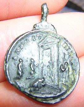Προσκυνηματικό αναμνηστικό του 18ου αιώνα από την Αγία Σκάλα της Ρώμης (οπισθότυπος).