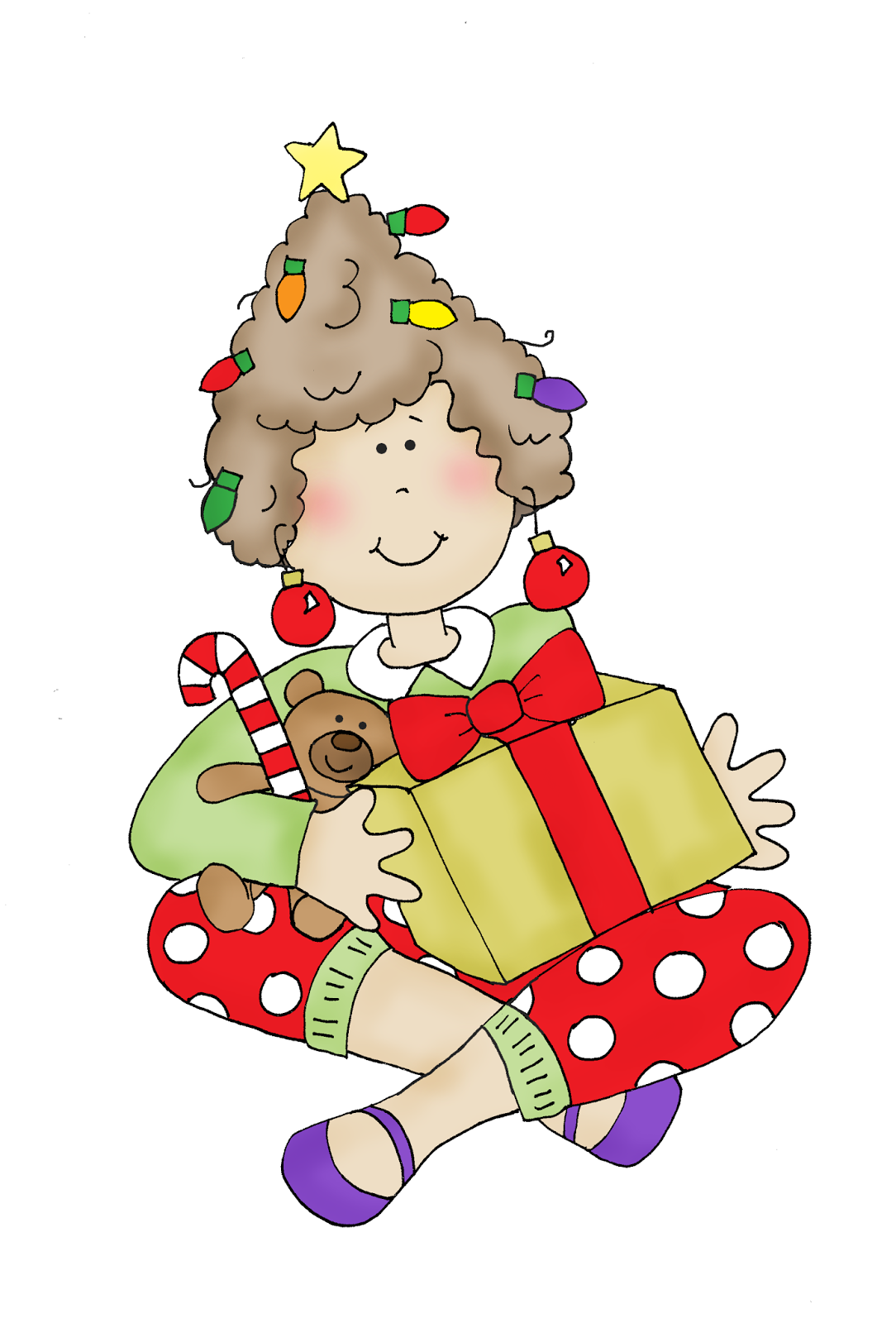 Free Dearie Dolls Digi Stamps Christmas Morning
