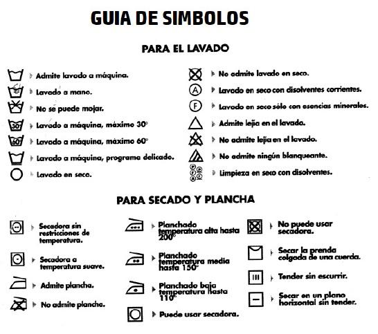 U R A Algeciras Simbolos De Lavado Secado Y Planchado De