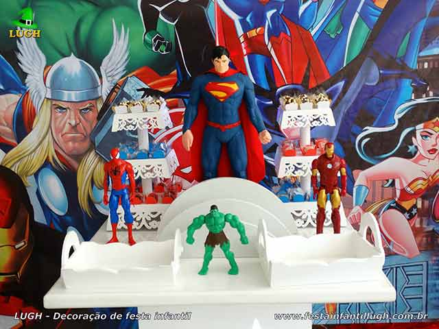 Festa infantil Super-Heróis - Decoração de aniversário