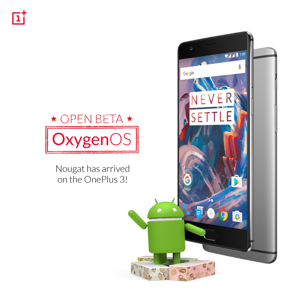 OnePlus Releases Android Nougat 'Beta' Build For OnePlus 3