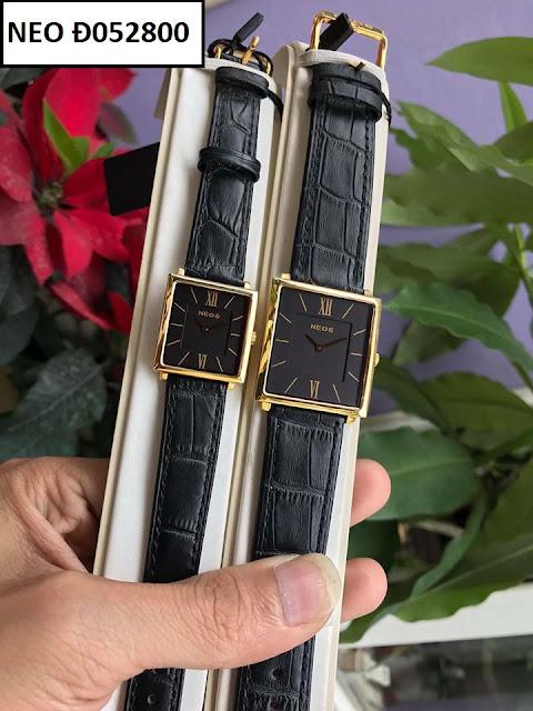 Đồng hồ cặp đôi dây da Neos Đ052800
