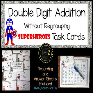 https://www.teacherspayteachers.com/Product/Double-Digit-Addition-Without-Regrouping-Superheroes-Math-Center-Task-Cards-3166894